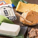 信州の厳選素材を使用した豆腐や味噌をぜひどうぞ