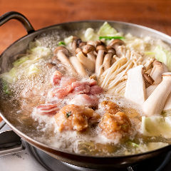国産鶏と産直きのこの鍋(しお味 / みそ味)
