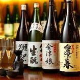 酒蔵・福島県の地酒がズラリ!みんなでワイワイ飲み比べも楽しい♪