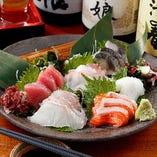 鮮魚刺身の盛り合わせ