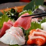 鮮魚も忘れちゃなりません♪市場直送なので新鮮プリプリ!