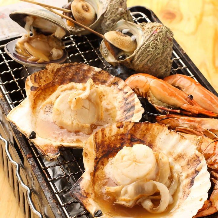 海の香り漂う♪海鮮BBQと炙り焼き