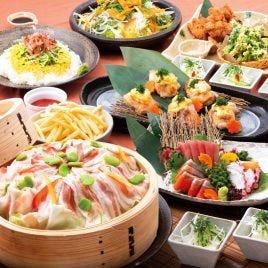 【居酒屋定番コース】お刺身、おでん、ポテト、サラダ、ギョーザ、自慢の鶏唐ジューシー付き♪3500円