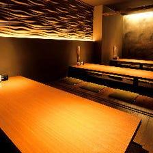 和ダイニング空間の掘りごたつ個室