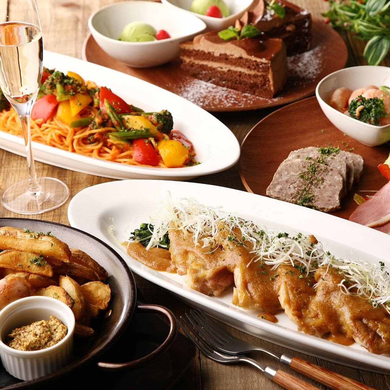 【11・12月限定★カジュアルプラン】前菜~デザートまで全7品!メインは牛サーロインのグリル