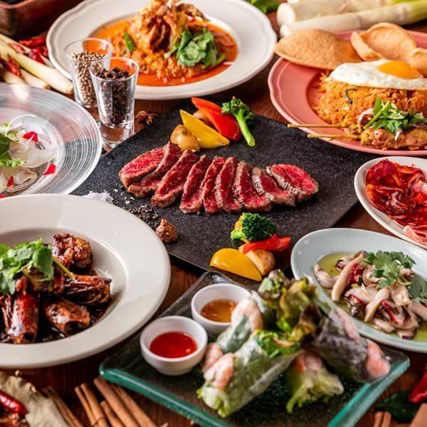 現地の食材を利用した、日本人に合うコースをご用意致します。