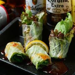 野菜と海老の生春巻き