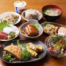 沖縄からの直送食材を使用したコース