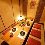 全席個室のくつろぎ空間。人数に合わせたお席をご用意致します。