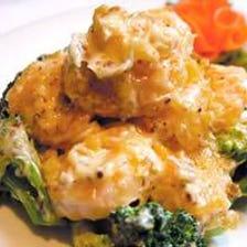 マスタード風味の海老マヨ