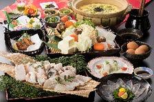 【冬に大人気!】くえ鍋フルコース