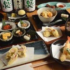 日替わり食材の職人料理長『旬天ぷらおまかせコース』5,000円