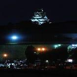 〈風情ある景色〉 個室の窓からは大阪城の景色も楽しめます