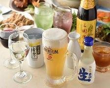 お得な飲み放題1,500円(税込)