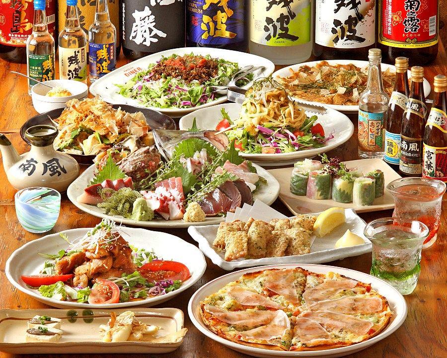 沖縄名物料理と新鮮魚介たっぷり! 琉球満喫コース3,500円