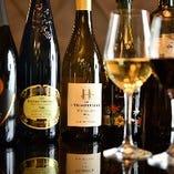 飲み口の違う様々なワインをご用意しております