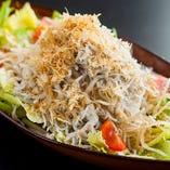 篠島産しらすのサラダ