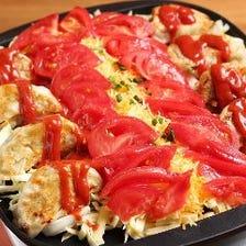 鉄板チーズフォンデュ肉餃子(トマトチリソース)