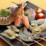 魚介類の串カツ【厳選素材】