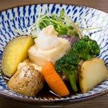 季節の無農薬野菜と豆腐の揚げ出し