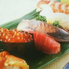 駅チカの便利な立地で新鮮寿司を堪能