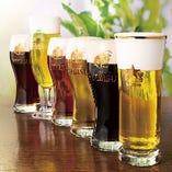 こだわりの生ビールは全7種類♪ワインやカクテルも揃えています