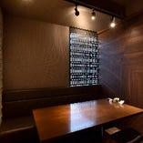 上品な空間で デートや記念日にピッタリ。完全個室