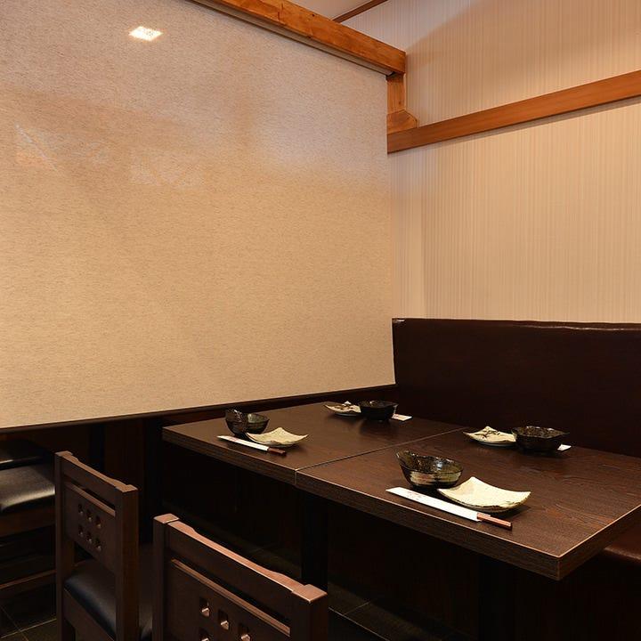 テーブル席・半個室・2名様~6名様