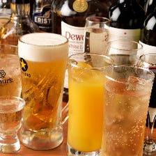 飲み放題メニューは充実の60種以上!
