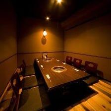 完全個室のおしゃれ空間ご用意