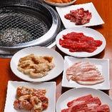 月~日まで、曜日に合わせてお肉1皿を半額で提供中♪