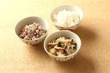 ■3種類の炊きたてご飯食べ放題■