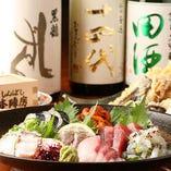 長年の目利きが選ぶ鮮魚と日本酒で粋に今宵は一杯どうぞ