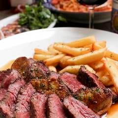 牛ハラミのステーキ&ポテトフリッツ