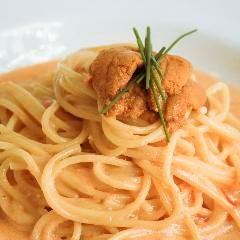 新鮮な生ウニのスパゲティ