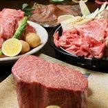 肉好き必見★黒毛和牛のステーキや鉄板ステーキメニューも充実!