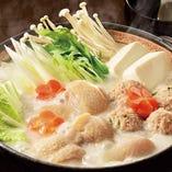 地鶏と野菜の白湯鍋(1人前)
