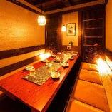 寛ぎの間 6~10名様用 江坂店で飲み会や歓送迎会、女子会にも大好評♪