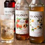 MONINシロップを使ったノンアルコールカクテルも