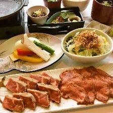 【コロナ対策】US産牛サーロイン&牛タン2種の熟成肉など(全5品)全品個々盛り【熟成肉炙り焼きコース】