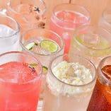 【豊富なドリンク】 サワーや日本酒などバリエーション豊富