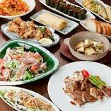 コースなら天然鮮魚やお肉の厳選素材双方を贅沢に楽しめます