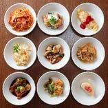多様化宴会コースは、銘々皿に取り分け提供し、衛生環境に配慮しております