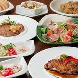 お肉中心の洋食コース「月替わり洋食シェフズコース」