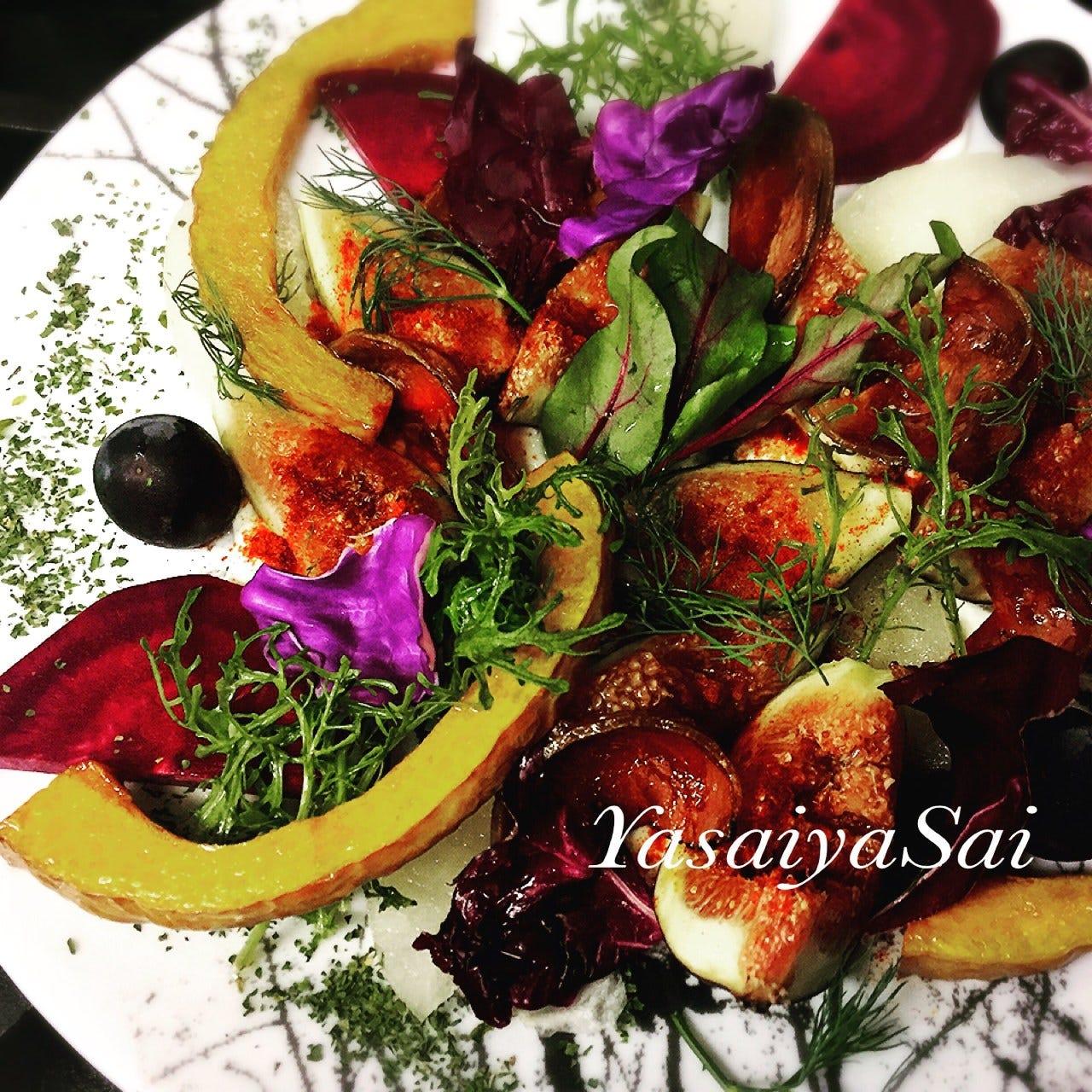 新鮮野菜は和歌山を中心とした契約農家様から。見た目にも鮮やか