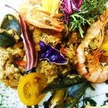 紀伊国野菜の海鮮パエージャ