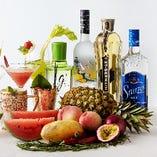 【TheBAR】 季節のフルーツ、野菜、ハーブを使ったカクテルをお楽しみ頂けます。