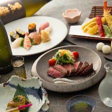 【和食An】こだわりの会席ランチ<旬の魚介を使った握り寿司を含む全8品>デート・接待に◆4000円