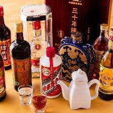 選りすぐりの中国酒も飲み放題