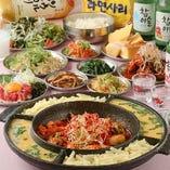 4種の選べる韓国満喫お鍋コース